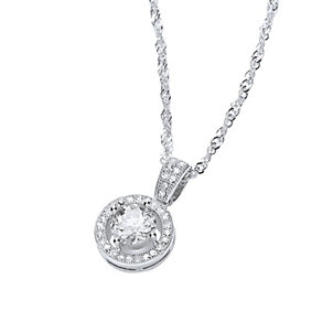 Buckley Rhodium-Plated Cubic Zirconia Roulette Pendant - Product number 1458698