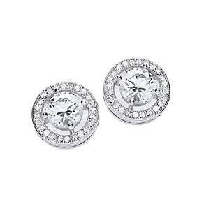 Buckley Rhodium-Plated Cubic Zirconia Roulette Stud Earrings - Product number 1458760