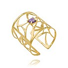 Missoma Mayai 18ct gold vermeil cut out amethyst bangle - Product number 1459384