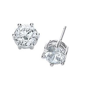 Buckley Rhodium-Plated Medium Cubic Zirconia Stud Earrings - Product number 1459457