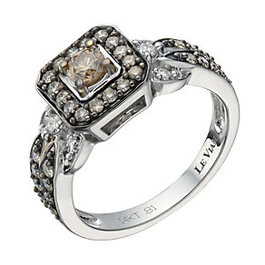 Le Vian 14ct white gold 0.81ct Chocolate Diamond ring - Product number 1459589