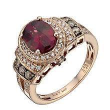 Le Vian 14ct Strawberry Gold rhodolite 45 point diamond ring - Product number 1460315
