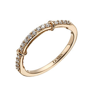 Le Vian 14ct Strawberry Gold 15 point diamond wedding ring - Product number 1460587