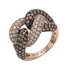 Le Vian 14ct strawberry gold 3.53 carat diamond knot ring - Product number 1462261