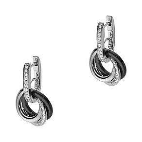 Emporio Armani silver & ceramic triple hoop earrings - Product number 1462717