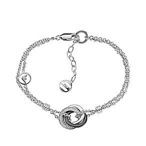 Emporio Armani silver & black ceramic triple hoop bracelet - Product number 1462733