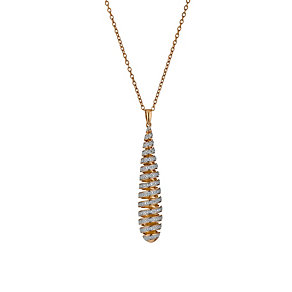 Amanda Wakeley Rose Gold Tone Diamond Swirl Drop Pendant - Product number 1465546
