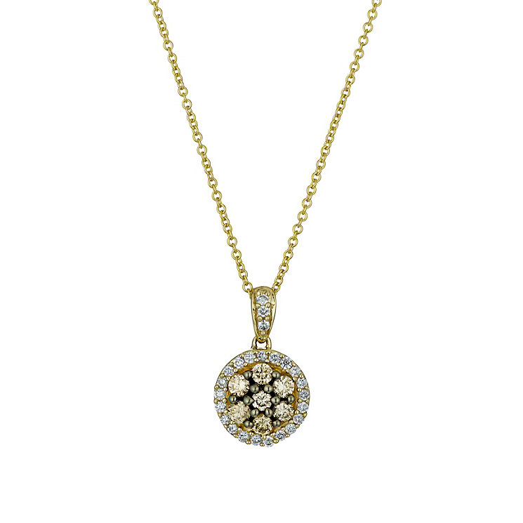 Le Vian 14ct gold white & Chocolate Diamond pendant - Product number 1470132