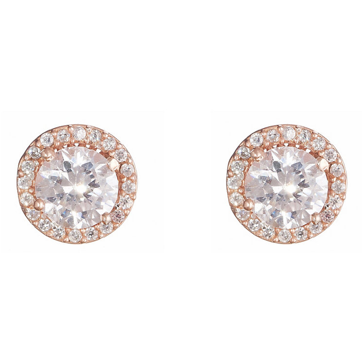Gaia Rose Gold-Plated Cubic Zirconia Stud Earrings - Product number 1470167