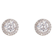 Gaia Rose Sterling Silver Cubic Zirconia Stud Earrings - Product number 1470175