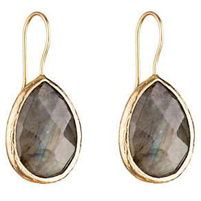 Gaia Gold-Plated Labradorite Pear Drop Earrings - Product number 1470183