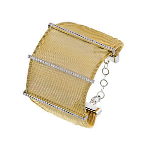 Amanda Wakeley sterling silver gold tone mesh bracelet - Product number 1470248