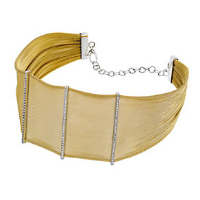 Amanda Wakeley sterling silver & gold tone mesh collar - Product number 1470264