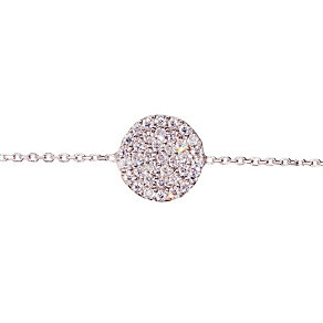 Gaia Sterling Silver Cubic Zirconia Disc Bracelet - Product number 1470493