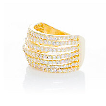 Gaia Gold-Plated Cubic Zirconia Ring Size L - Product number 1470507