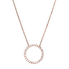 Gaia Rose Gold-Plated Cubic Zirconia Circle Pendant - Product number 1470566