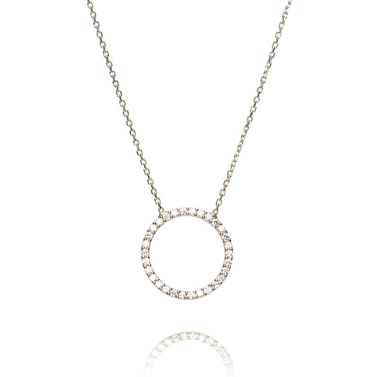 Gaia Sterling Silver Cubic Zirconia Circle Pendant - Product number 1470574