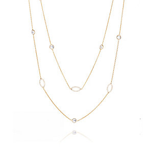 Gaia Gold-Plated Cubic Zirconia Double Strand Necklace - Product number 1470590