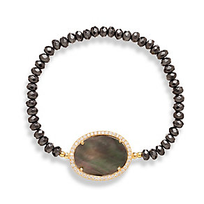 Gaia Sterling Silver Hematite & Mother Of Pearl Bracelet - Product number 1470612