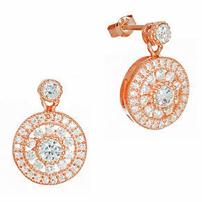 Gaia Sterling Silver Rose Gold-Plated Antique Style Earrings - Product number 1470620