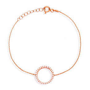 Gaia Rose Gold-Plated Cubic Zirconia Bracelet - Product number 1471066