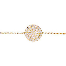 Gaia Sterling Silver Gold-Plated Zirconia Disc Bracelet - Product number 1471082