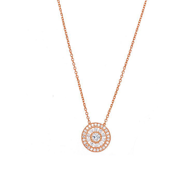 Gaia Rose Gold-Plated Cubic Zirconia Antique Style Necklace - Product number 1471171
