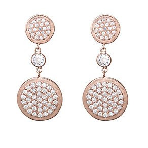 Gaia Rose Gold-Plated Cubic Zirconia Drop Earrings - Product number 1471244