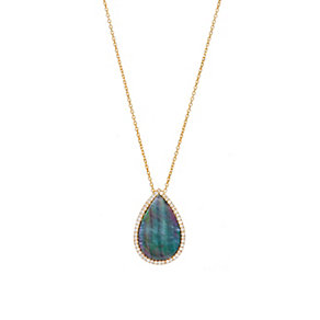 Gaia Gold-Plated Cubic Zirconia Raindrop Pendant - Product number 1471309