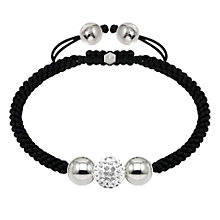 Tresor Paris stainless steel and crystal ball 10mm bracelet - Product number 1473786
