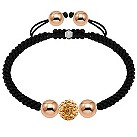 Tresor Paris rose gold-plated and crystal ball 10mm bracelet - Product number 1473794