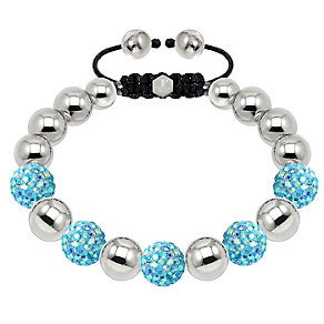 Tresor Paris steel & mixed blue crystal ball 10mm bracelet - Product number 1473840