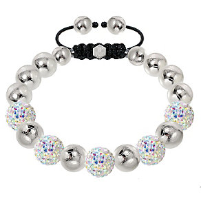 Tresor Paris steel & mixed colour crystal ball 10mm bracelet - Product number 1473859