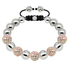 Tresor Paris steel & gold tone crystal ball 10mm bracelet - Product number 1473867