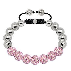 Tresor Paris steel & blush pink crystal ball 10mm bracelet - Product number 1473875