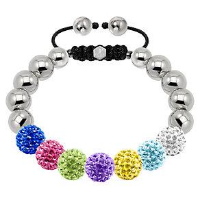 Tresor Paris steel & multi coloured crystal 10mm bracelet - Product number 1473891