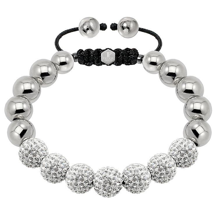 Tresor Paris steel & white crystal ball 10mm bracelet - Product number 1473913