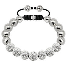 Tresor Paris steel & white crystal ball 10mm bracelet - Product number 1473913