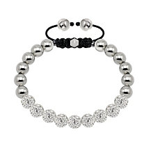 Tresor Paris steel & white crystal ball 8mm bracelet - Product number 1473921