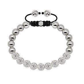 Tresor Paris steel & white crystal ball 8mm bracelet - Product number 1473921