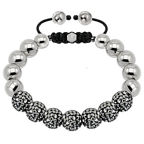 Tresor Paris steel & grey crystal ball 10mm bracelet - Product number 1473948