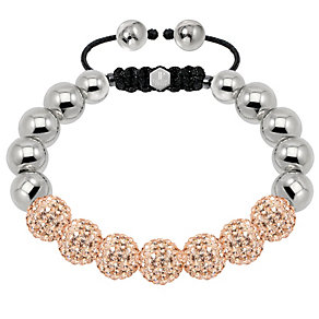Tresor Paris steel & gold tone crystal ball 10mm bracelet - Product number 1473956