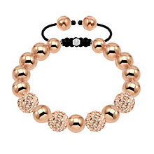 Tresor Paris 10mm 18ct rose gold-plated crystal bracelet - Product number 1473964