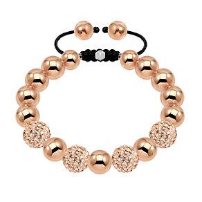 Tresor Paris 10mm 18ct rose gold-plated crystal bracelet - Product number 1473964