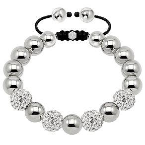 Tresor Paris steel & white crystal ball 10mm bracelet - Product number 1473972