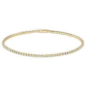Tresor Paris 18ct gold-plated crystal 7