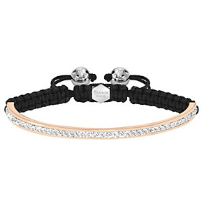 Tresor Paris 4mm 18ct rose gold-plated crystal half bracelet - Product number 1474030