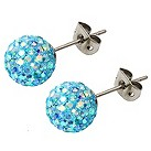Tresor Paris light blue crystal ball stud earrings 8mm - Product number 1474081