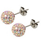 Tresor Paris 8mm titanium gold mix crystal stud earrings - Product number 1474111
