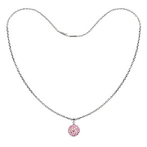 Tresor Paris sterling silver 12mm pink crystal ball necklace - Product number 1474162